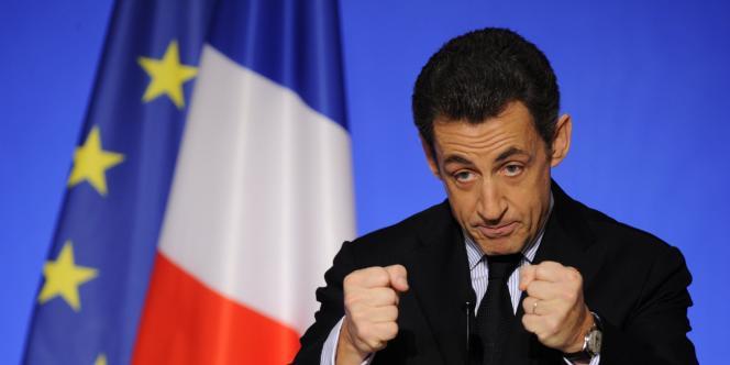 Nicolas Sarkozy, le 14 décembre 2009, à l'Elysée.