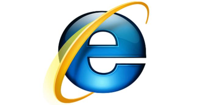 Le logo d'Internet Explorer.