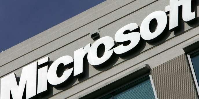 Le logo de l'entreprise Microsoft.