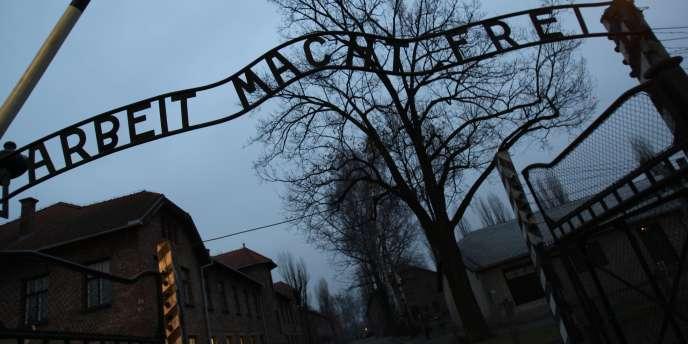 L'entrée de l'ancien camp d'extermination d'Auschwitz.
