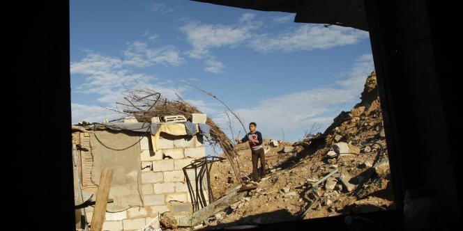 Ruines d'une maison de Khan Younès détruite lors de l'offensive israélienne dans la bande de Gaza, menée de décembre2008 à janvier2009. Selon le rapport Glavany,