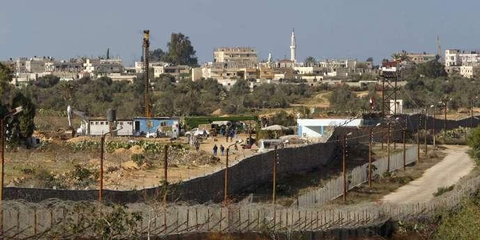 Photo prise à la frontière avec l'Egypte.