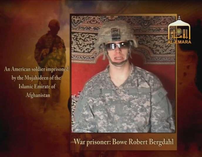 Image extraite d'une vidéo diffusée en 2009 où apparaît le sergent Bowe Bergdahl.