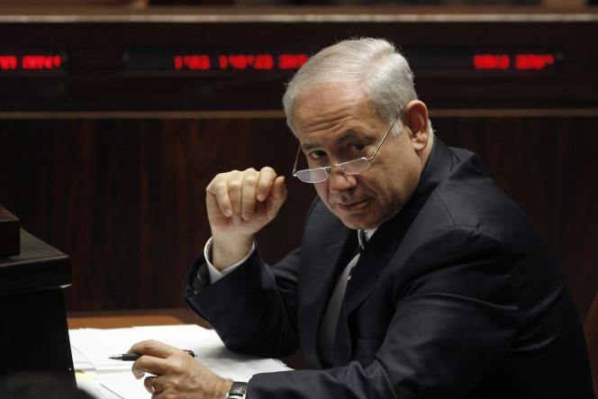 Le premier ministre israélien, Benyamin Nétanyahou, à la Knesset à Jérusalem.