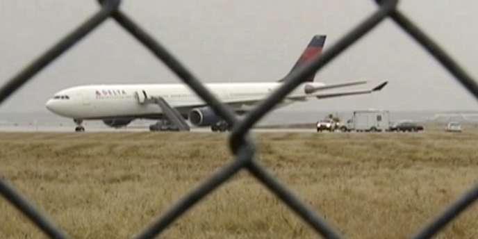 L'avion de Delta qui avait été victime d'une tentative d'attentat, le 25 décembre 2009, à l'aéroport de Detroit.