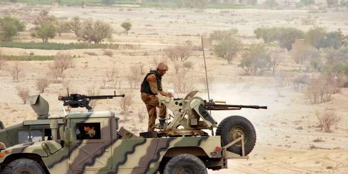 Combats entre les forces régulières et les rebelles de la province yéménite de Saada, en août.