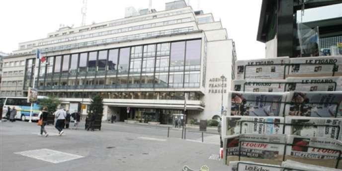 Le siège de l'Agence France-Presse, à Paris.