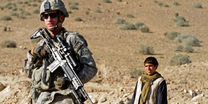 Un soldat américain en patrouille dans la province du Nuristan en Afghanistan en décembre 2009.