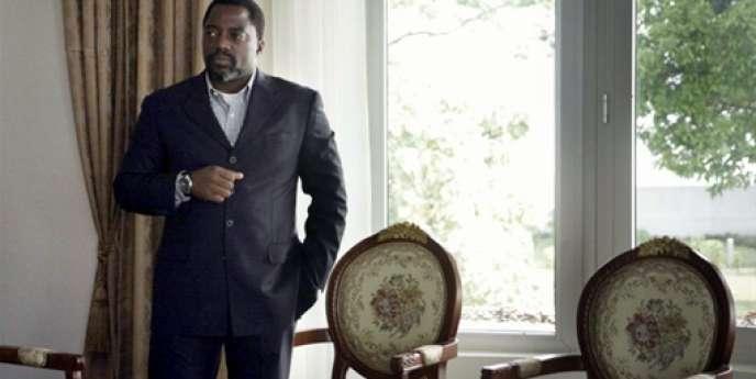 Joseph Kabila, le président de la RDC, le 24 mai 2009, dans son bureau à Kinsaha.