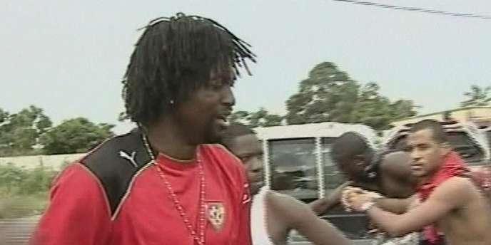 Emmanuel Adebayor, le capitaine du Togo, choqué après l'attaque du bus de la sélection le 8 janvier, dans l'enclave de Cabinda.