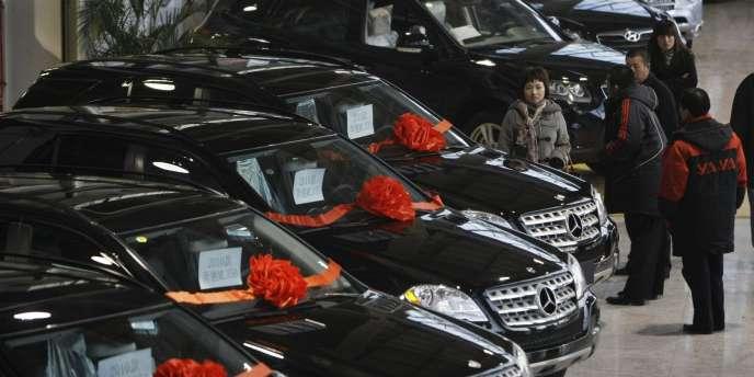 Les ventes de voitures en Chine ont ralenti très nettement en 2011.