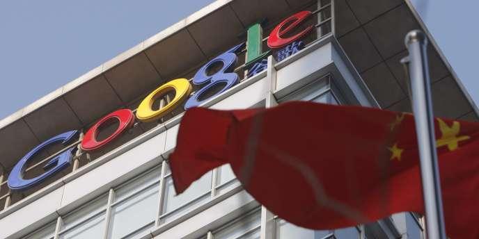 Le logo de Google, à Pékin.