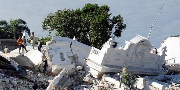 Le palais de justice de Port-au-Prince, détruit par le séisme du 12 janvier 2010.
