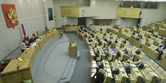La Douma, chambre basse du Parlement russe, le 15 janvier 2010.