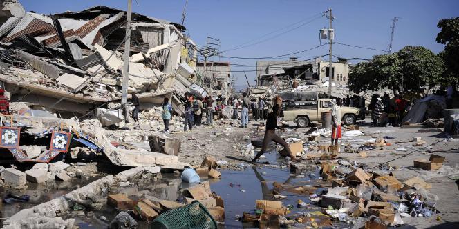 A Port-au-Prince, le 15 janvier 2010.
