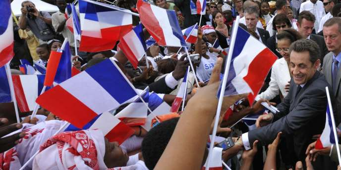 Nicolas Sarkozy, lundi 18 janvier, à Mayotte.
