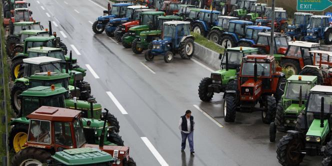 Manifestation d'agriculteurs en Grèce, le 18 janvier.