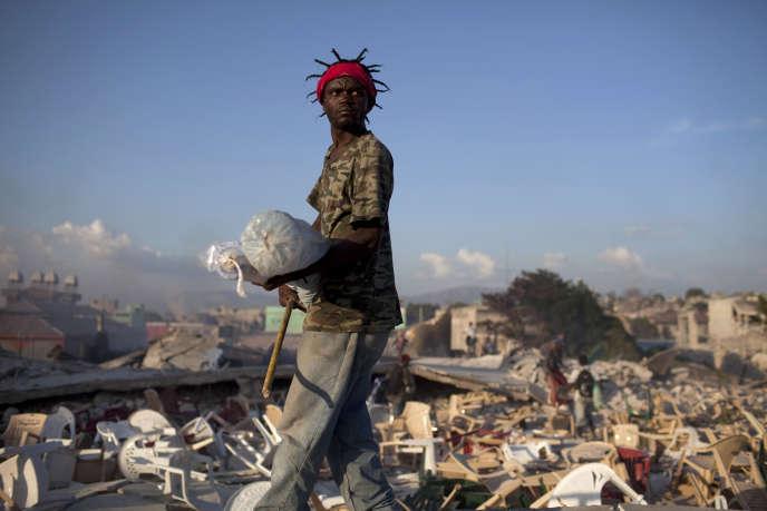 Vue de Port-au-Prince, le 20 janvier 2010.