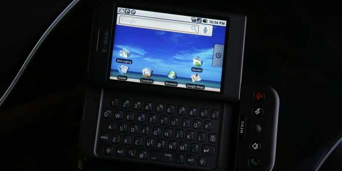Un téléphone utilisant le système d'exploitation Android.