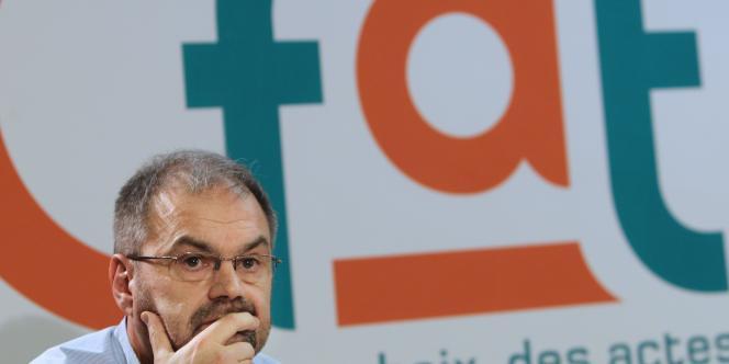 Le secrétaire général de la CFDT, François Chérèque, le 19 janvier à Paris.