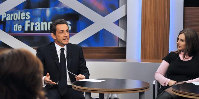Nicolas Sarkozy face à un panel de onze Français, dans l'émission