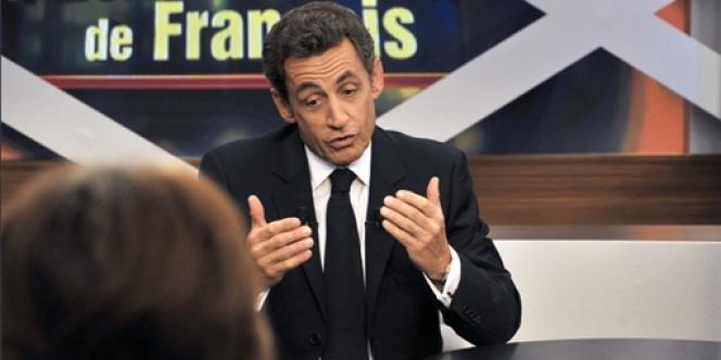 Nicolas Sarkozy, le 25 janvier 2010