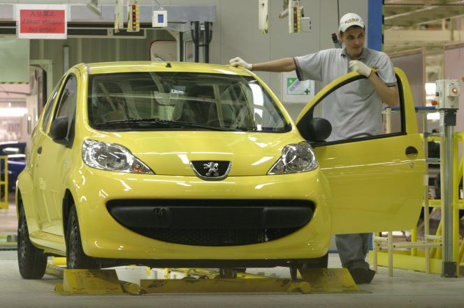 Peugeot 107, à l'usine de Kolin, en République tchèque.