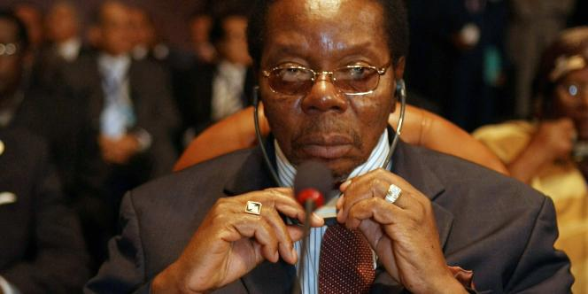 Le président du Malawi, Bingu wa Mutharika, en juin 2008, lors d'un sommet de l'Union africaine.