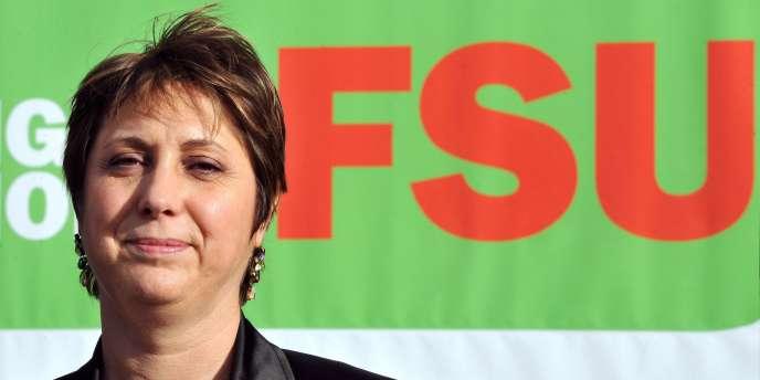 La secrétaire générale de la FSU, Bernadette Groison, à Lille, le 1er février 2011.