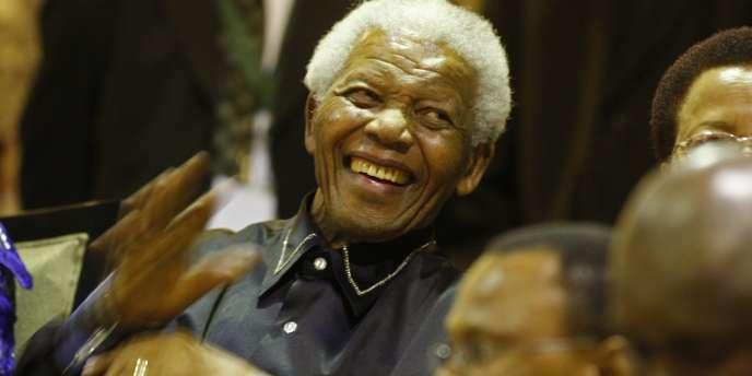 Nelson Mandela, lors de la célébration des 20 ans de sa libération, jeudi 11 février 2010.