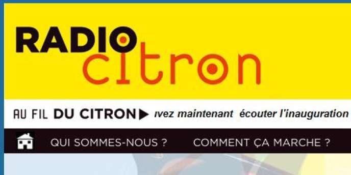Capture d'écran du site de Radio Citron.