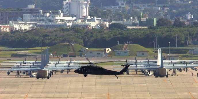 Vue de la base de Futenma, à Okinawa.