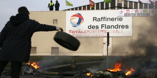 La raffinerie Total de Dunkerque est à l'arrêt depuis septembre.