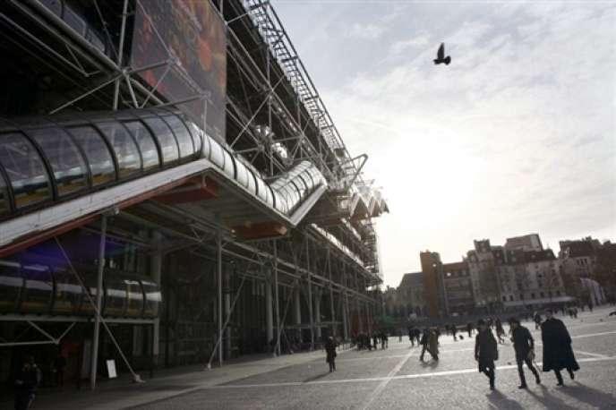Vue du centre Pompidou, à Paris.