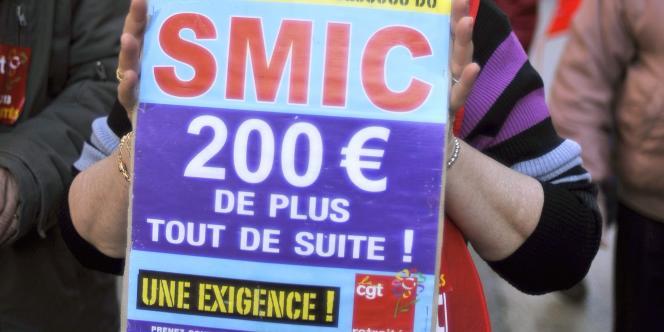 Lors d'une manifestation de la fonction publique, à Marseille.