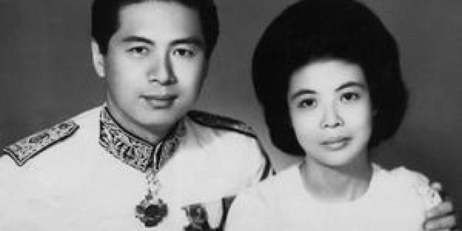 Ung Bun Hor et sa femme en 1960 (collection personnelle de Mme Ung).