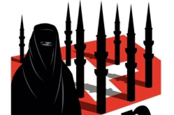 Affiche du parti suisse UDC contre les minaret .