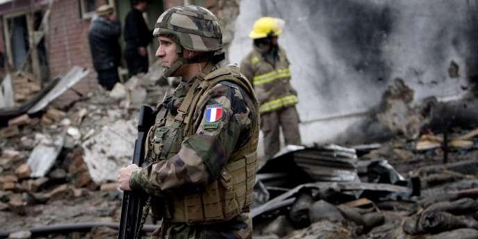 Un soldat français à Kaboul, le 26 février 2010.
