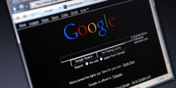 Une page du moteur de recherche Google.