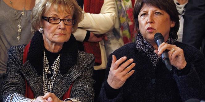 Martine Aubry, le 8 mars 2010 lors de sa campagne à Montpellier.
