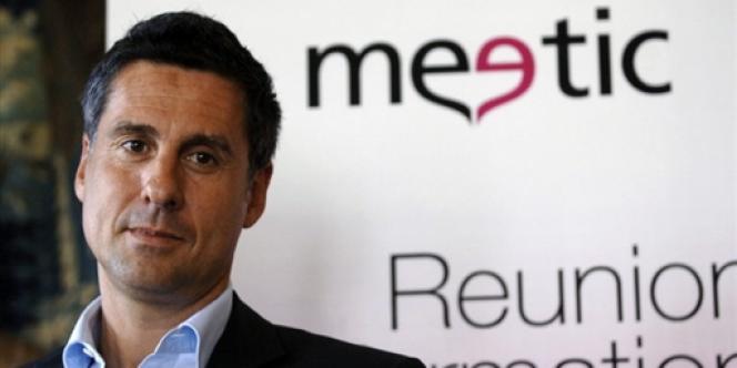 Le fondateur du site de rencontres Meetic, Marc Simoncini, à Paris, en mars 2006.