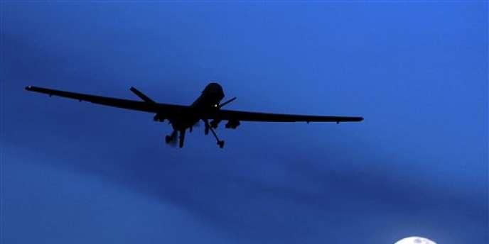 Un drone américain décollant de la base de Kandahar, en janvier 2010.