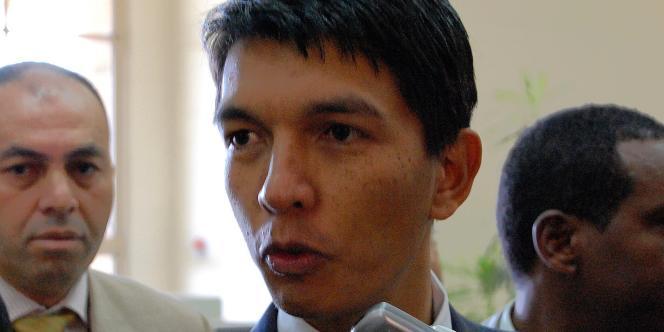 Andry Rajoelina, le 6 mars 2009 à Addis Abeba.