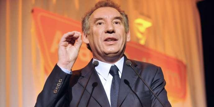 François Bayrou, le 11 mars 2010.