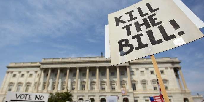 Manifestation des opposants à la réforme de la santé, le 21 mars à Washington.