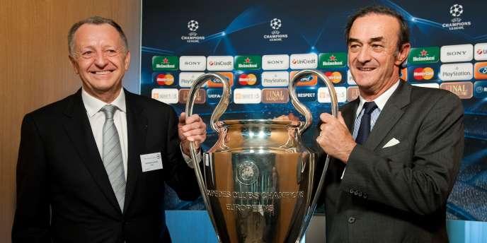 En 2010, Jean-Michel Aulas (Lyon) et Jean-Louis Triaud (Bordeaux) se rencontraient en quarts de finale de la Ligue des champions.