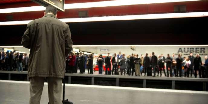 Station Auber, le 23 mars 2010.
