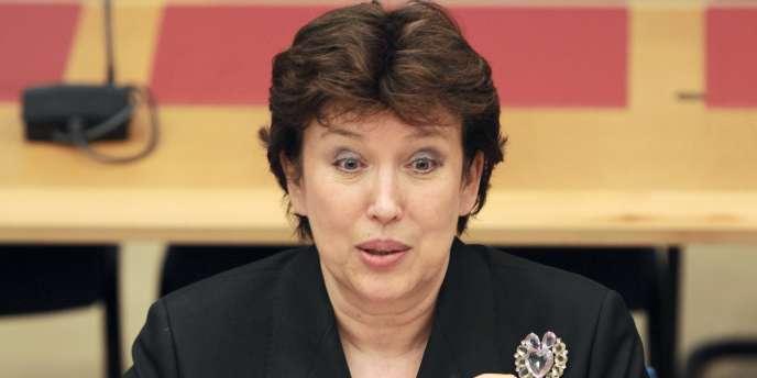 La ministre de la santé, Roselyne Bachelot, devant le Sénat à Paris, le 23 mars.
