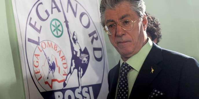 Le dirigeant historique de la Ligue du Nord, Umberto Bossi, à Milan, le 29 mars 2010.