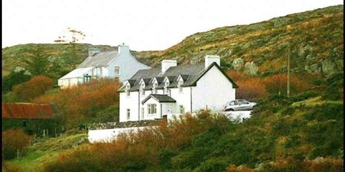 Photo prise le 24 décembre 1996 près de Skull (comté de Cork, Irlande) de la maison appartenant au metteur en scène Daniel Toscan du Plantier, où le cadavre de son épouse, Sophie, 39 ans, avait été retrouvé.